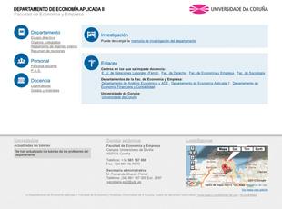 Departamento de Economía Aplicada II. UDC - Web del departamento de Economía Aplicada II