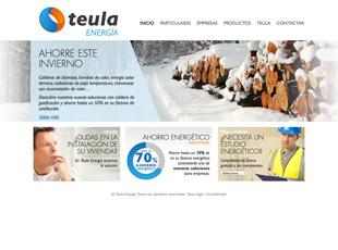 Teula Energía - Diseño y maquetación web