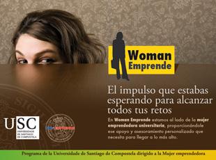 Uniemprende. USC - Identidad corporativa de Woman Emprende