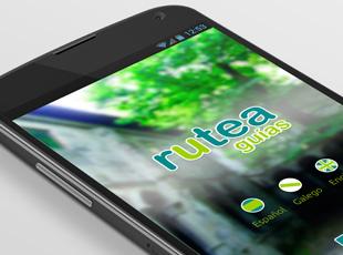 Rutea Guías - Diseño de interfaz de app