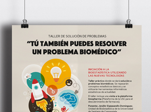 Equipo de investigación GridECMB. Universidad de Santiago de Compostela - Diseño de cartelería para talleres